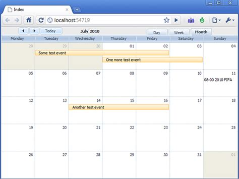 Asp Calendar Event Calendar For An Asp Net Mvc Application Codeproject