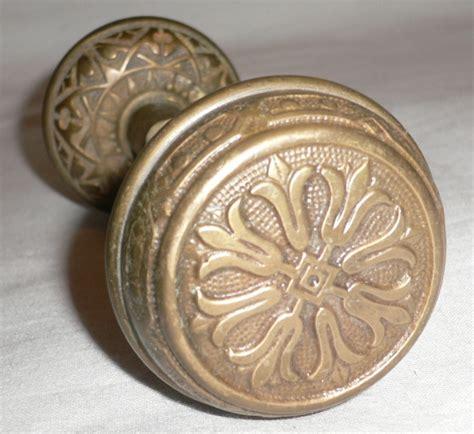 beautiful antique cast bronze door knob set aesthetic