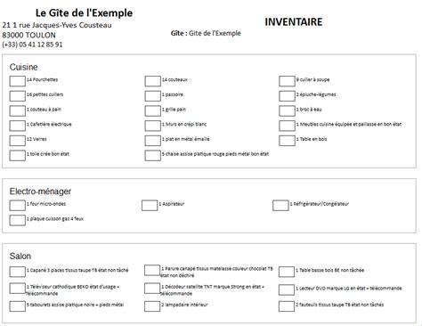 Inventaire Etat Des Lieux Meublé by Comment G 233 Rer Efficacement L Accueil Et Le D 233 Part Des
