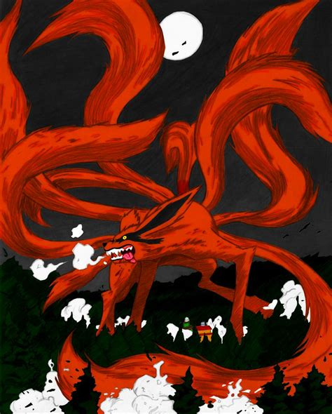 Anime 9 Tailed Fox by Nine Tailed Fox Coloured By Cyanerainblack On Deviantart