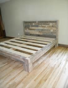 Reclaimed Wood Bed Frame Plans Plans For A King Size Bed Frame Images