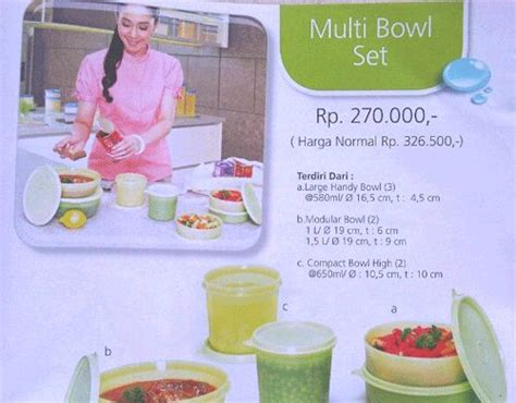 Stok Terbatas Compact Bowl High 4 Tupperware Serbaguna icha s house