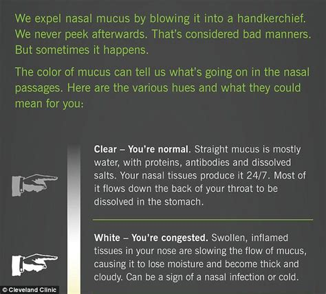 what color should discharge be snot colour chart shows what nasal mucus says about your