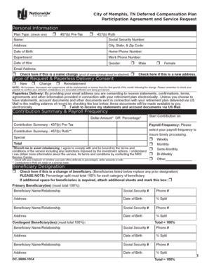 457 b deferred compensation constructive receipt template fillable city of tn deferred compensation