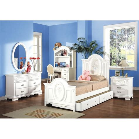 Bed Bigland Flora White acme flora panel bed in white 01680t