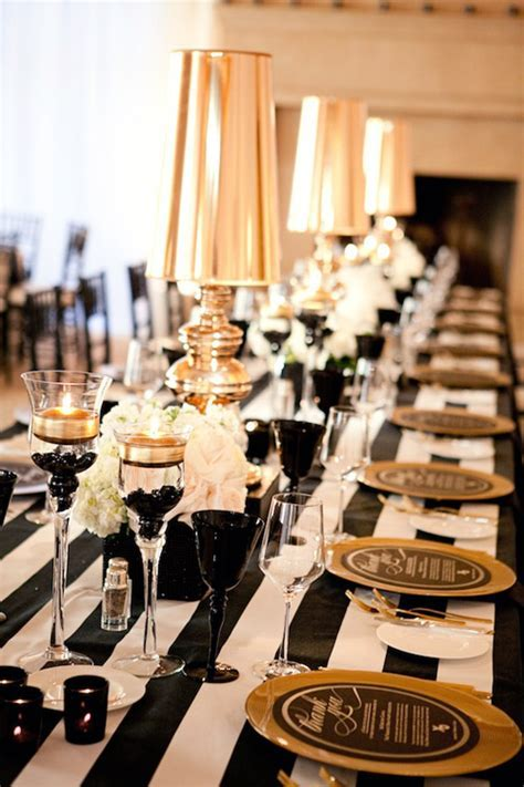 Glamorous Black, White and Gold Wedding with Sequin