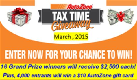 Buy Autozone Gift Card - autozone win 2 500 each for 16 winners plus 4 000 more e giveawayus com
