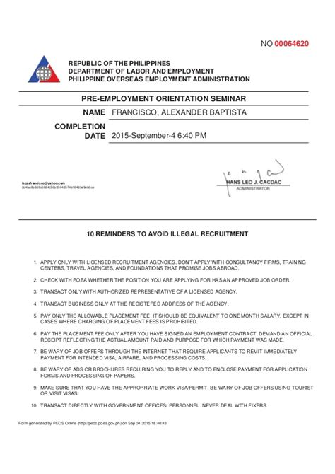 sle of certificate of employment purpose of certificate of employment best design