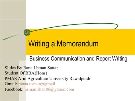 Business Communication Letters And Memos memorandums and letters business communication business