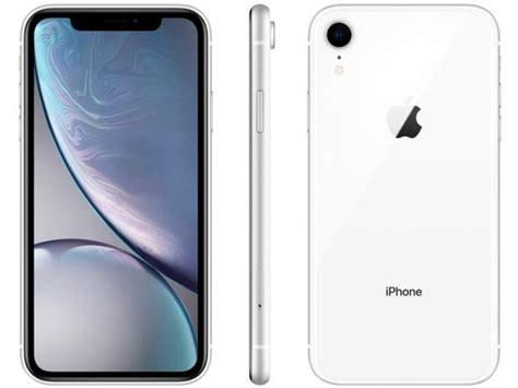 iphone xr apple gb branco  tela  retina camera