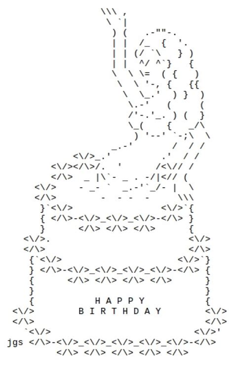 happy birthday wishes text design happy birthday ascii art facebook make the birthday wish