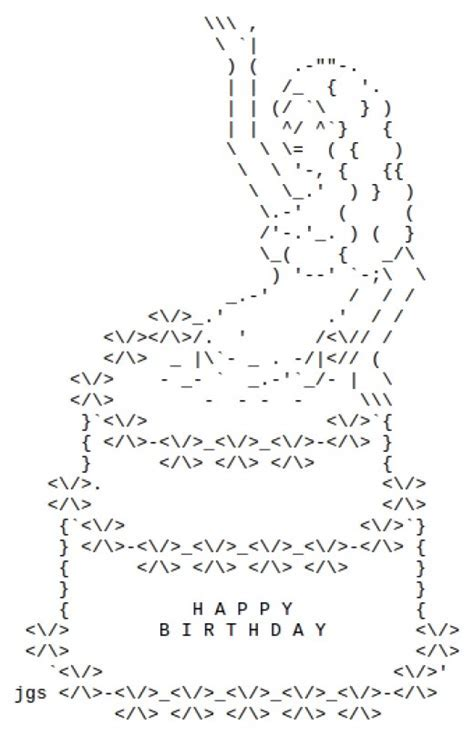 Happy Birthday ASCII Text Art   HubPages