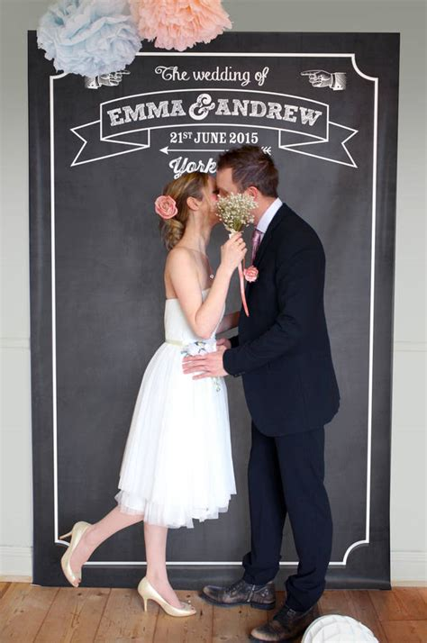 Personalised Wedding Backdrop Uk by Personalised Chalkboard Backdrop By Modo Creative