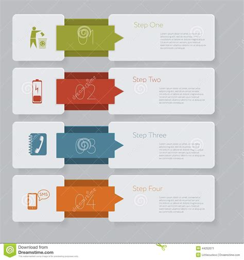 Infographic Design Number Banners Template Graphic Or Website Layout Stock Vector Image 44252071 Infographic Layout Template