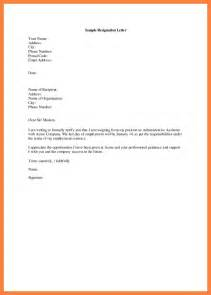 Sle Of Resignation Letter For Personal Reasons by 11 Best Resignation Letter For Personal Reasons