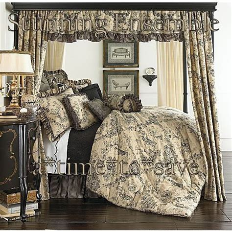 french country comforter sets toile full french country prim linen black tan gold