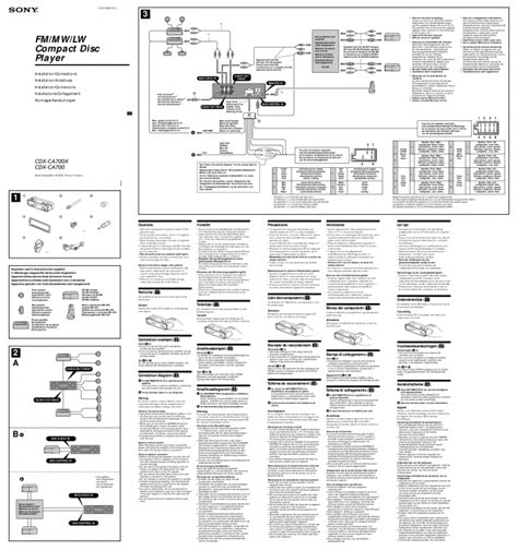 sony cdx gt240 wiring diagram wiring diagram and