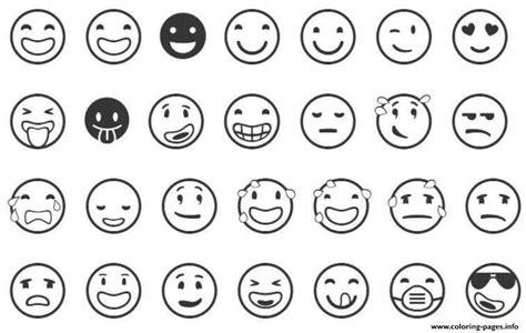 Emoji List Coloring Pages Printable
