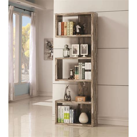 Best Buy Furniture Direct by Open Bookcase With Distressed Wood Finish B800847 Best