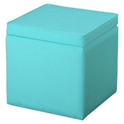 turquoise storage ottoman square storage ottoman sunbleached from target