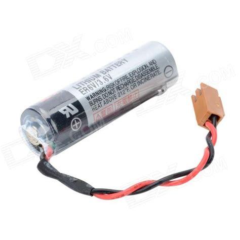 Er6v 3 6v toshiba er6v 3 6v 2400mah lithium plc industrial battery w