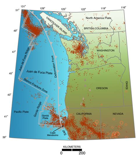 map of oregon earthquake zones living with earthquakes in the pacific northwest