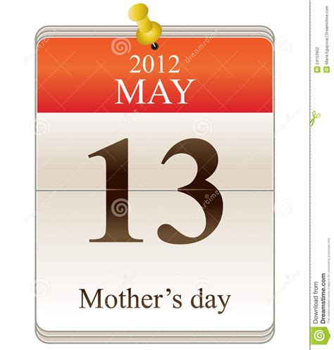 mothers day 2012 calendar of mothers day for 2012 stock photography image