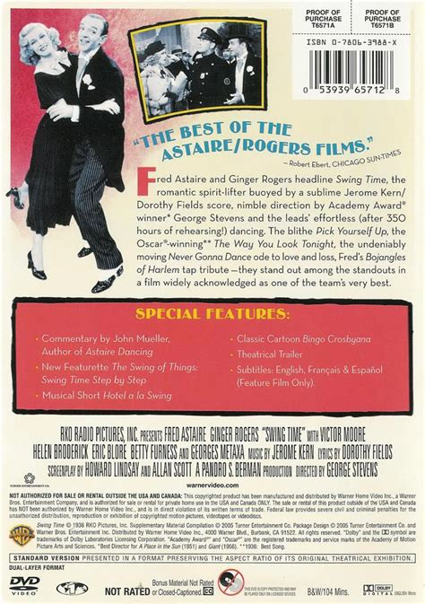 swing time dvd swing time fred astaire ginger rogers dvd 53939657128