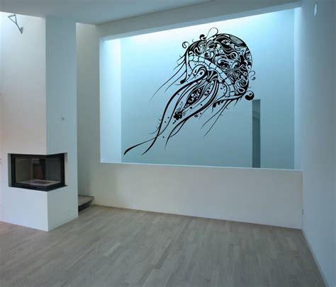 wall vinyl jellyfish wall decal large jellyfish vinyl wall decal