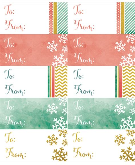 holiday labels   watercolor glitter theme  printable labels templates label design
