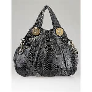Gucci Hysteria Large Top Handle Bag In Python by Gucci Black Python Hysteria Large Top Handle Bag Yoogi S