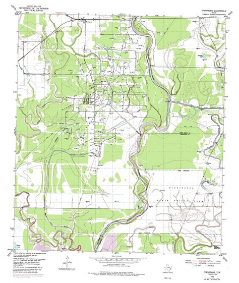 usgs topo maps texas thompsons topographic map tx usgs topo 29095d5