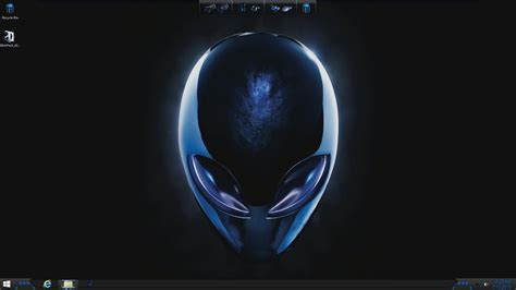 themes for windows 10 alienware alienware blue skin theme for windows 7 8 10 youtube