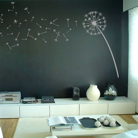 graphic wall stickers dandelion blowing in the wind wall decal sticker graphic