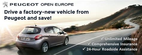 open europe car lease peugeot open europe