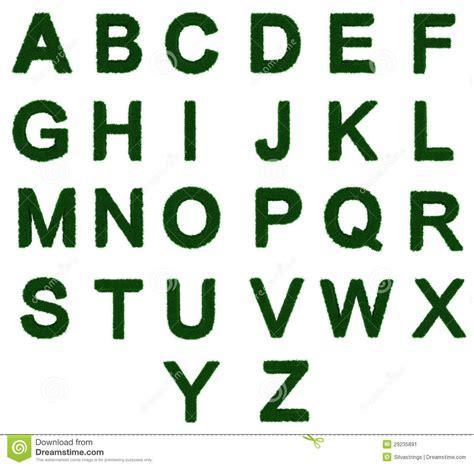de a a z alfabeto a a z de la hierba imagen de archivo imagen 29235891