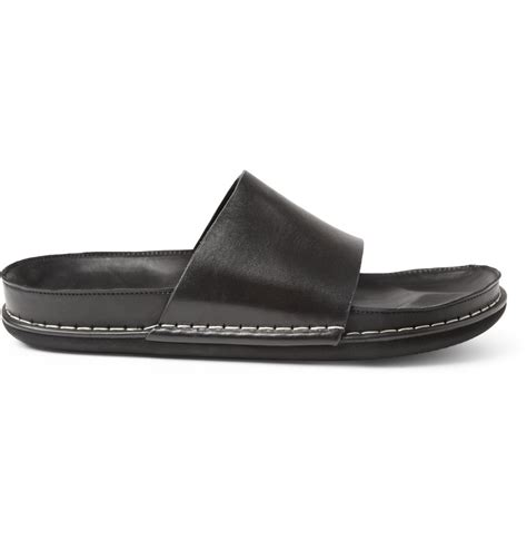demeulemeester sandals lyst demeulemeester leather sandals in black for