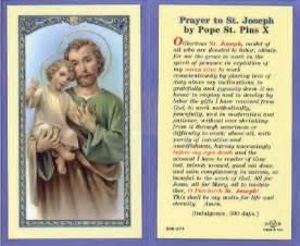 st joseph holy card