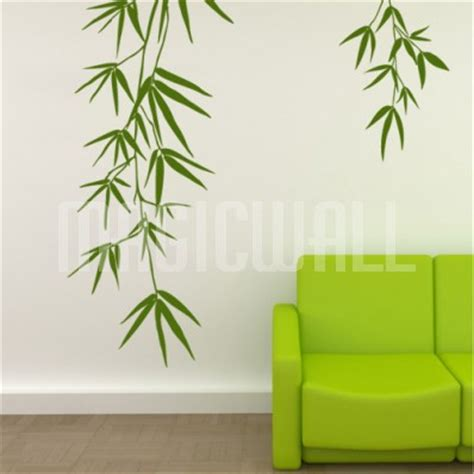 bamboo wall stickers wall decals bamboo leaves wall stickers