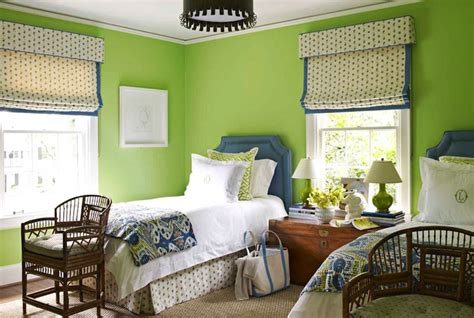 bedrooms with green walls apple green paint design ideas
