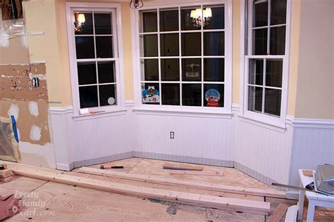 bay window seat height building a window seat with storage in a bay window