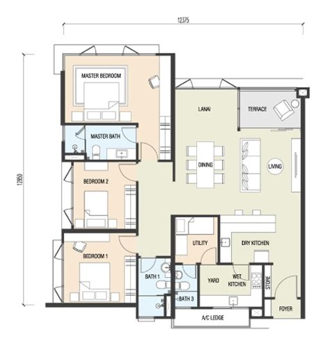 1 Desa Residence Floor Plan by Sanjung Residence Malaysiacondo