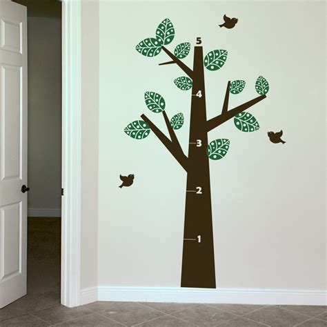 growth chart wall sticker growth chart tree wall decals