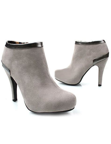 grey high heel booties gray toe stiletto heel terry pretty s high
