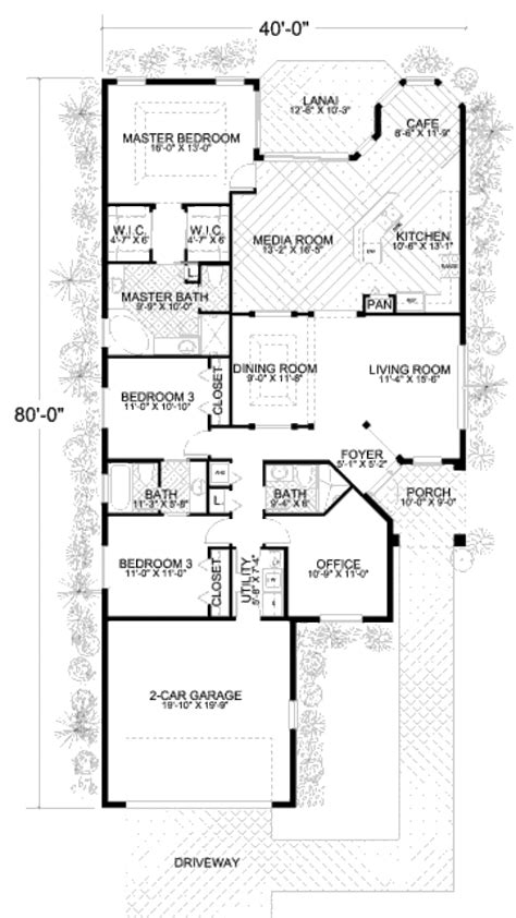 420 sq ft house plans mediterranean style house plan 3 beds 3 baths 2124 sq ft plan 420 264