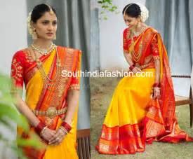 How To Drape An Indian Saree Bridal Sarees Fashion Trends South India Fashion
