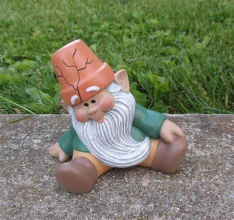 garden gnome ceramic mr gnomer lawn garden or home gnome 2141 best better gnomes and gardens images on pinterest