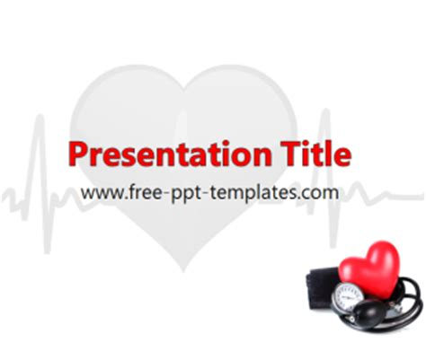 Blood Pressure Ppt Template Free Powerpoint Templates Blood Powerpoint Template