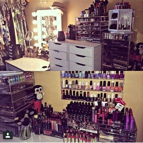 i want makeup and nail organized like this and