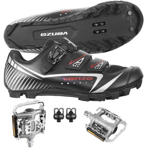 mountain bike shoes and pedals venzo mountain bike bicycle cycling shimano spd shoes with